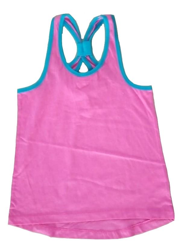 Koszulka dziewczęca top 9 / 10 lat 140 cm różowa