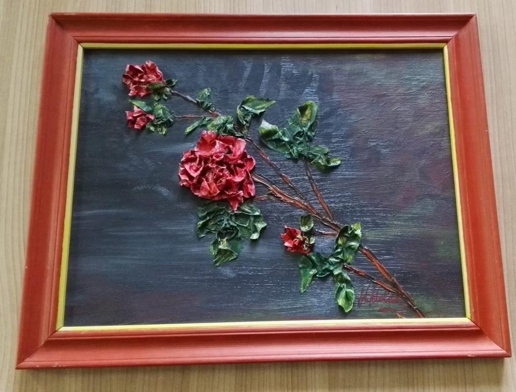"""Obraz """"Róża"""" autorstwo Wanda Wolak (olej)"""