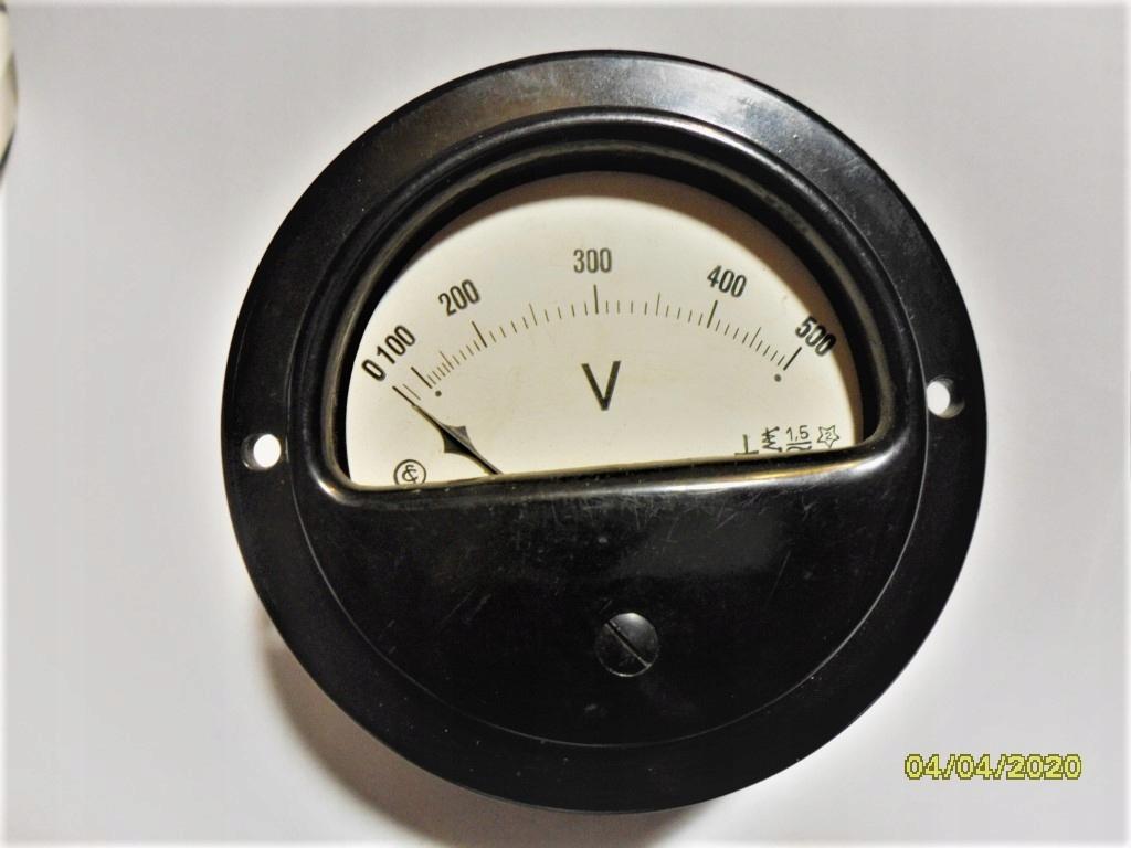 Woltomierz tabl. 0-500 V - AC/DC