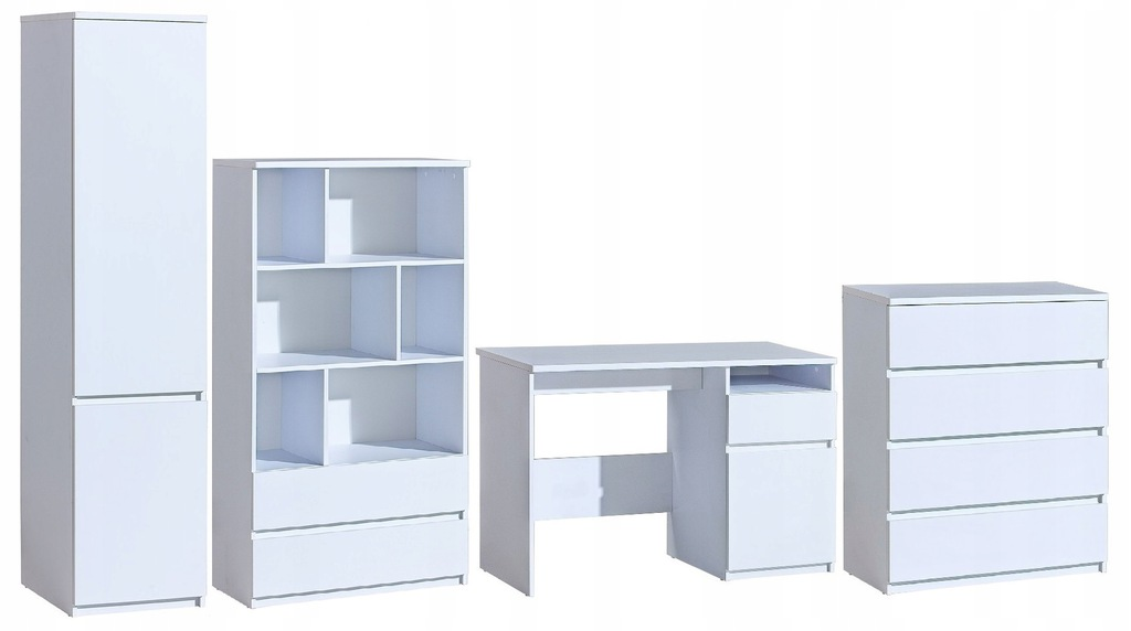 zestaw białe młodzieży biurko szafa komoda ARCA 28