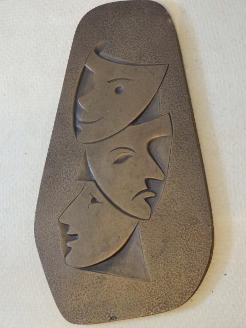 Art Deco Maski brąz