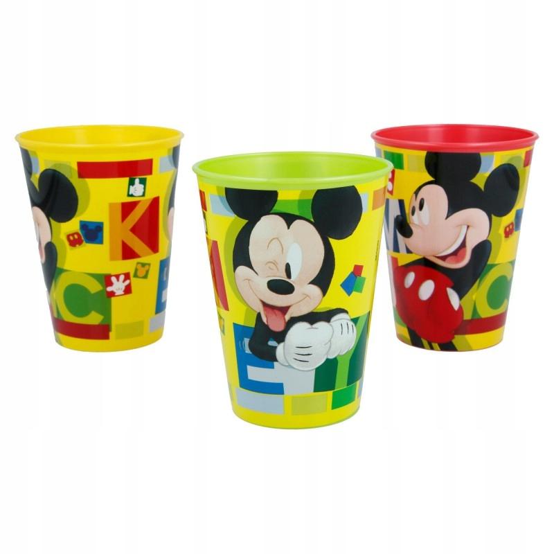 Mickey Mouse - Kubki piknikowe 260 ml (3 szt)