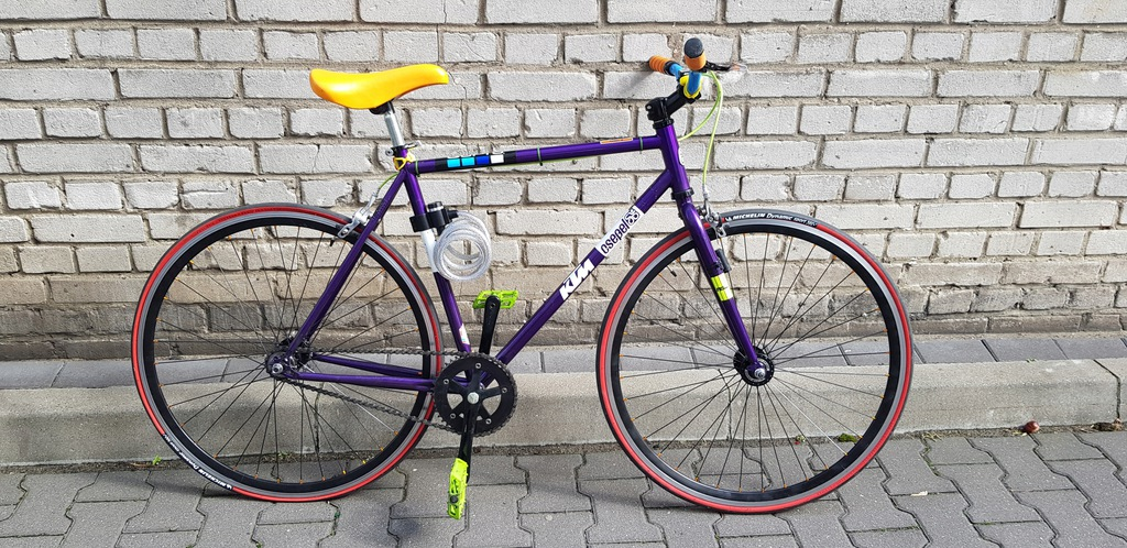 Rower miejski ostre kolo