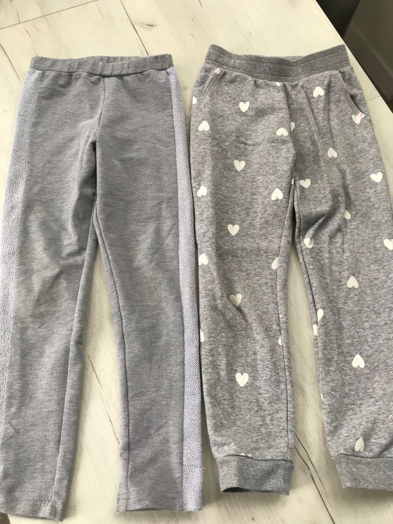 COCCODRILLO i H&M spodnie dresowe 2 pary 128