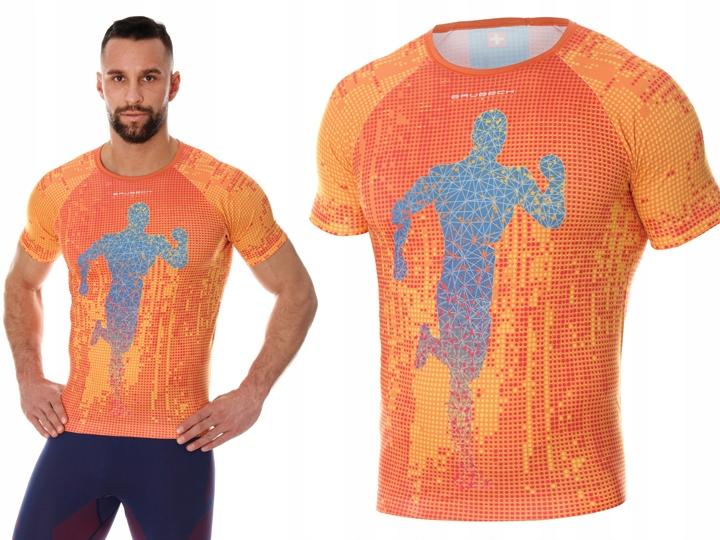 Koszulka do BIEGANIA Brubeck SS13260 Pomarańcz L