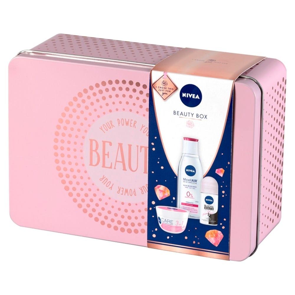 Nivea Beauty Box krem płyn micelarny kulka zestaw