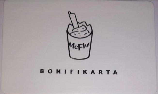 biała koperta + gratis BONIFIKARTA McDonald's