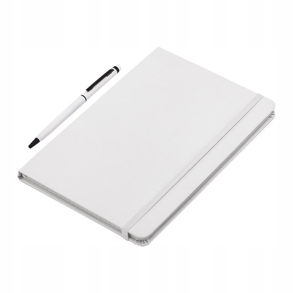 Zestaw notes z długopisem Abrantes, biały