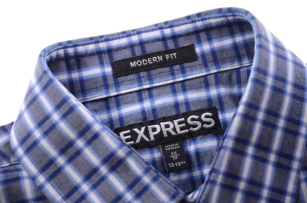 EXPRESS koszula w niebieską kratkę k 36 XS 7421176696