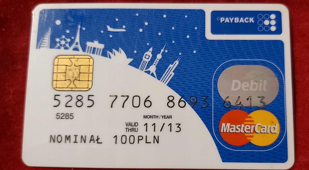 Karta MasterCard Bank Zachodni WBK PAYBACK 7787