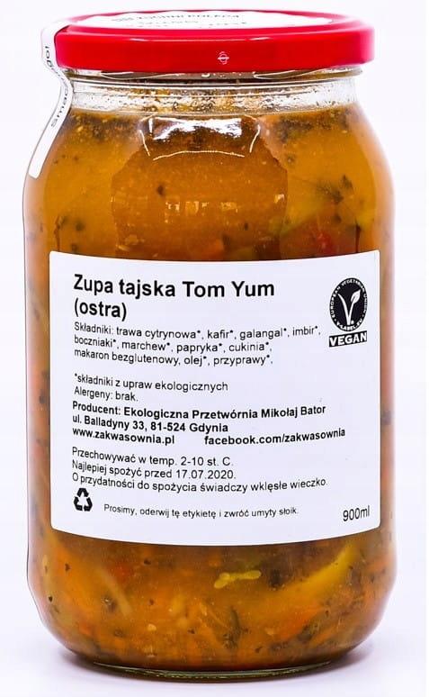 ZUPA TAJSKA OSTRA TOM-YUM BIO 900 ml - ZAKWASOWNIA