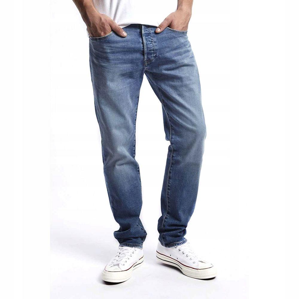 Spodnie jeansowe Levis 501 SLIM TAPER iron 34/32