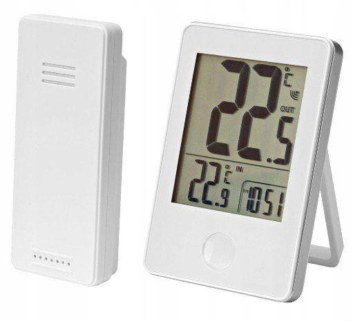 Termometr bezprzewodowy zasięg 60m pomiar biały