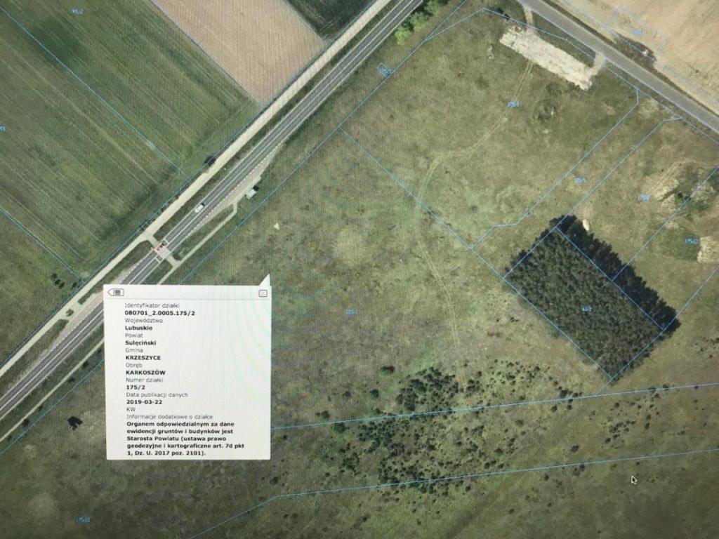 Działka, Karkoszów, Krzeszyce (gm.), 28159 m²