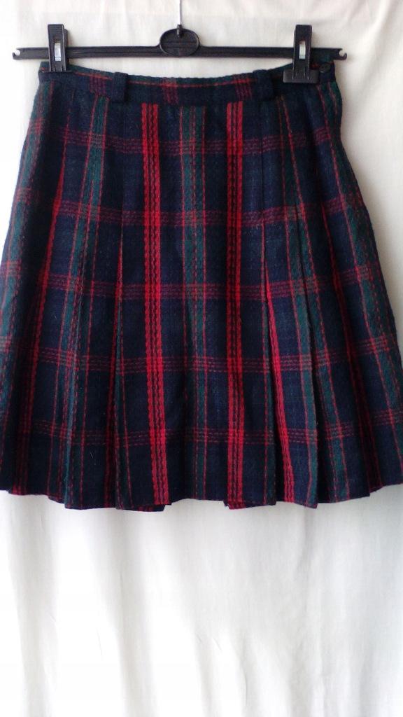 spódnica wełniana w szkocką kratę 3638