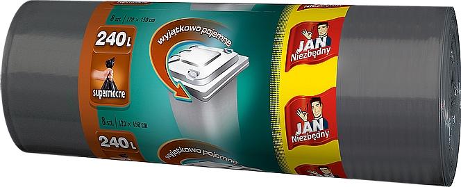 JAN NIEZBĘDNY Worki Na Śmieci Pojemność 240 L - 8