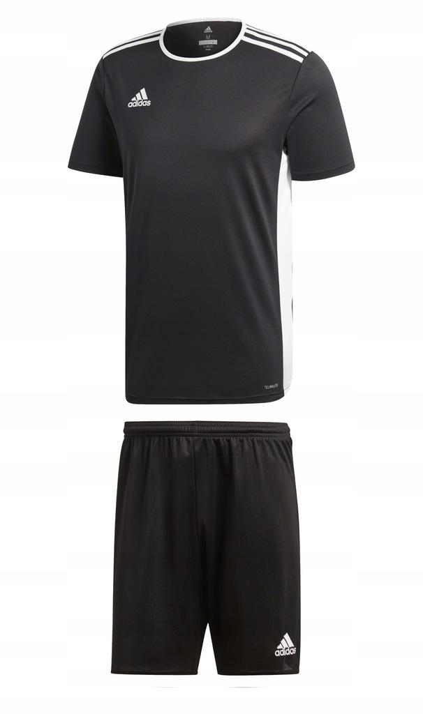 Komplet Adidas Entrada Parma junior czarny 164
