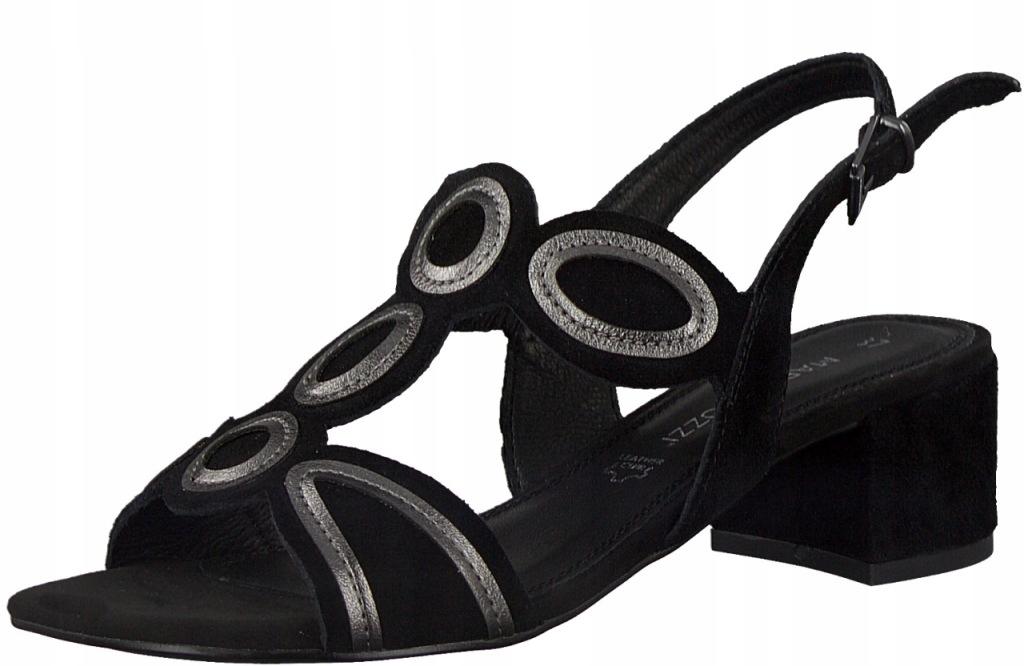 Marco Tozzi 2-28210-26 37 czarne sandały PREMIO