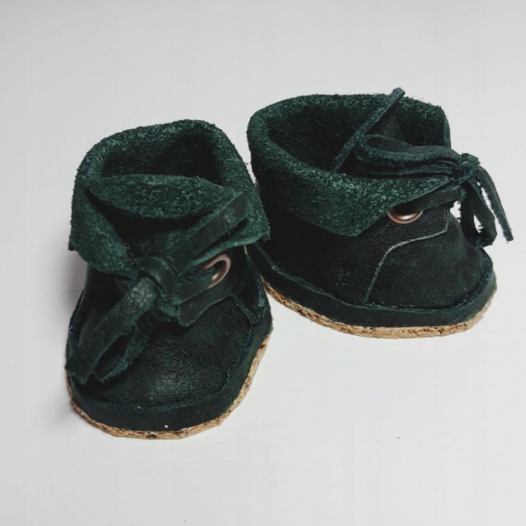 Obuwie buty skórzane lalki 5 cm ciemny zielony