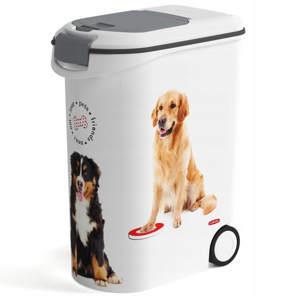 Pojemnik na karmę Curver Love Pets Dogs 20kg (star