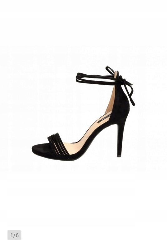 Vices sandały szpilki czarne 35