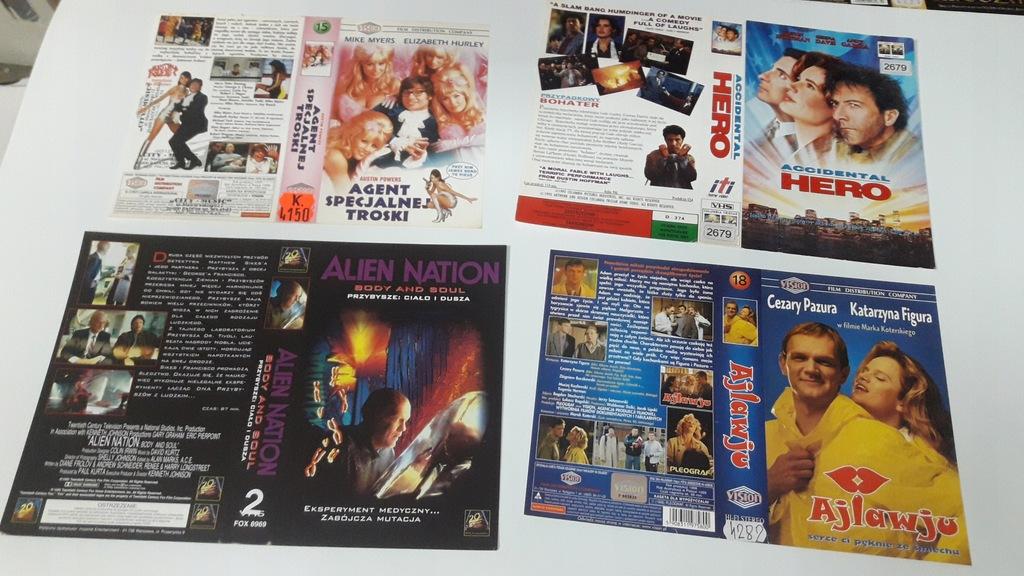 A-0804 pakiet 8 okładek kaset vhs