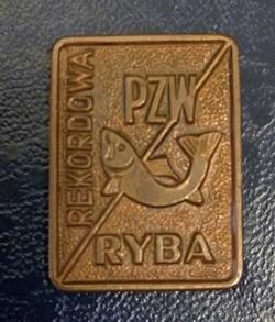 Odznaka wędkarska PZW Rekordowa ryba brązowa