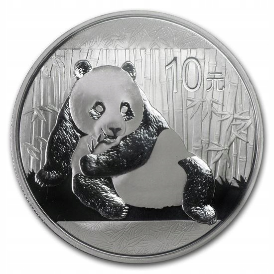 Chiny - 10 yuan - Panda - 2015 rok - 1 oz