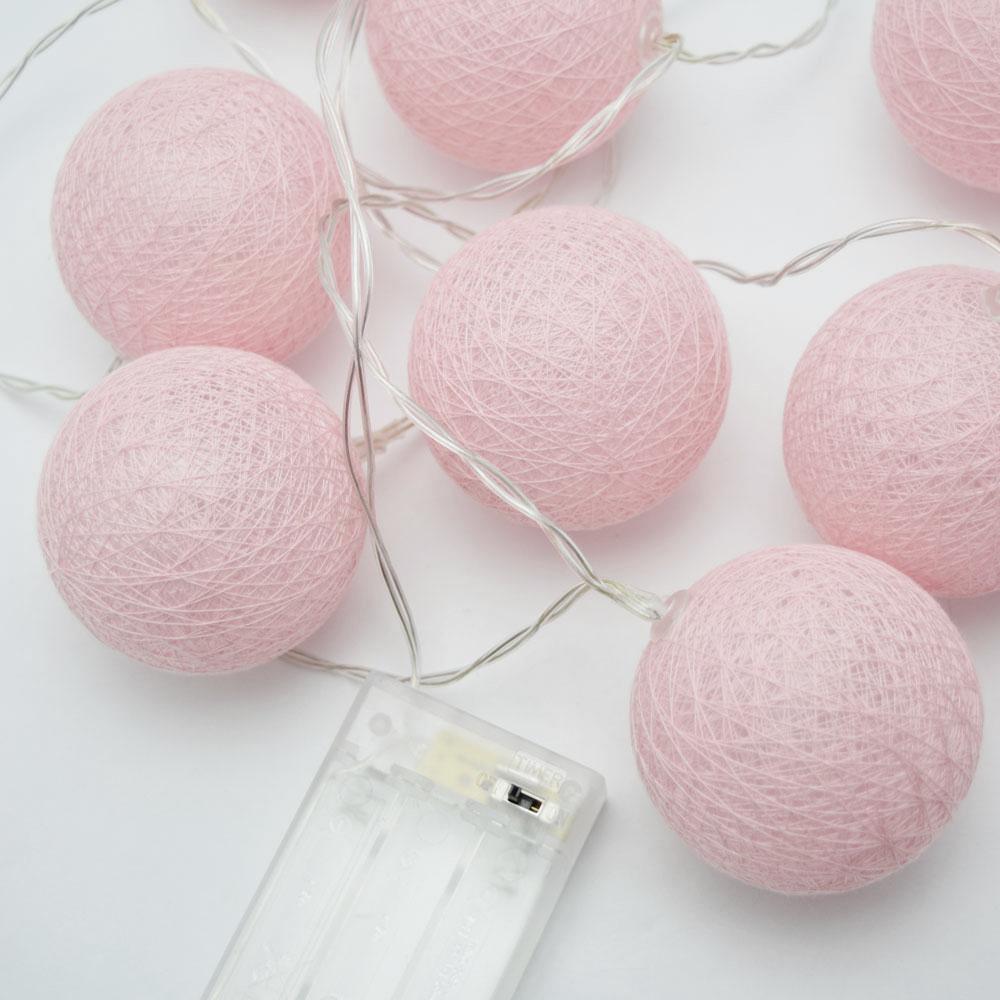 Rozowe Cotton Ball Balls Swiecace Kule Led 10 Kul 7186633864 Oficjalne Archiwum Allegro