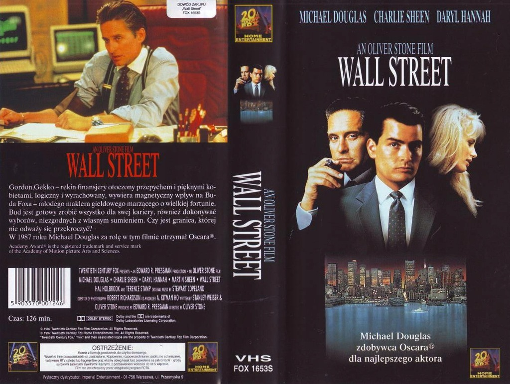 WALL STREET * M. Douglas ********NOWA KASETA VIDEO
