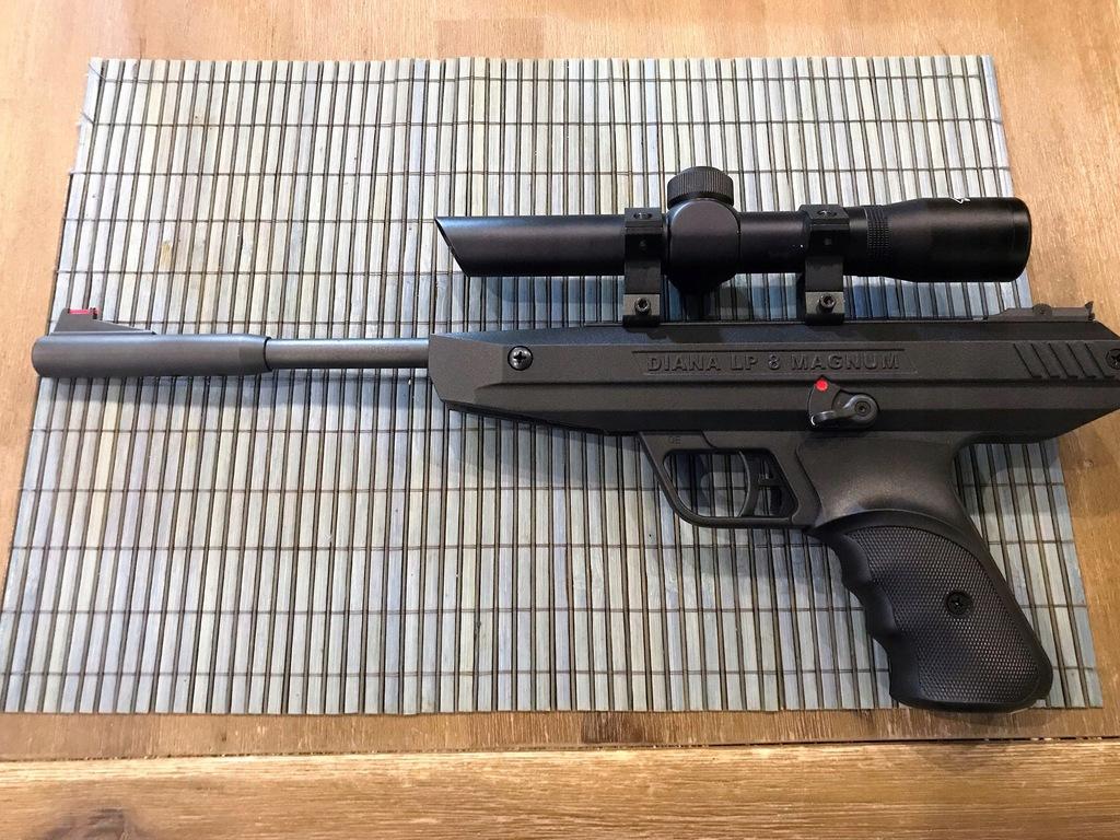 Pistolet Diana LP8 Magnum z lunetą Walther 2x20!