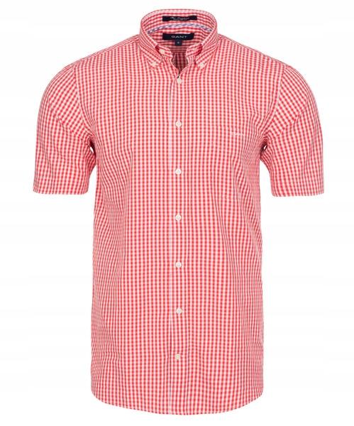 Koszula Męska Gant The Gingham biało-czerwona