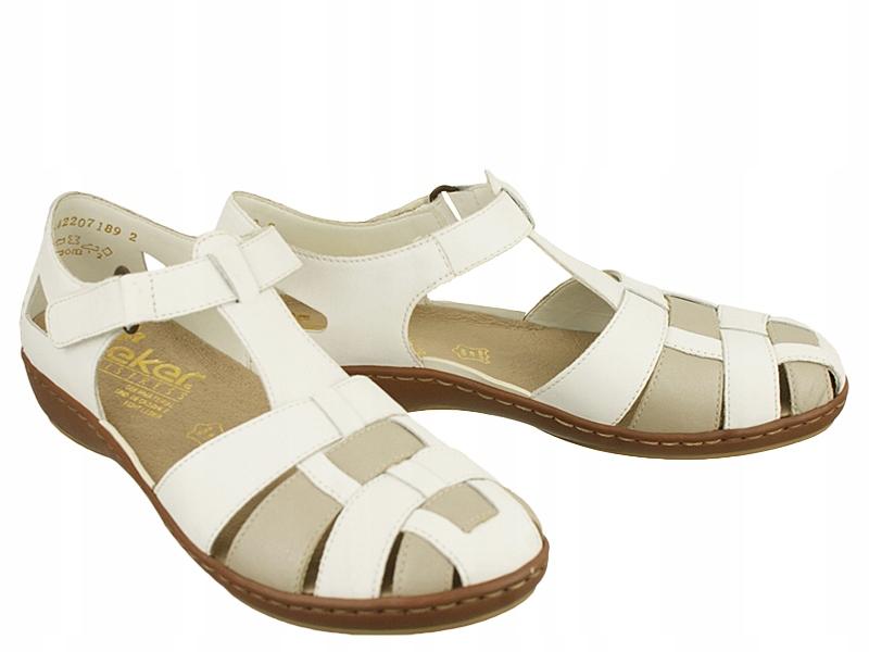 Sandały damskie RIEKER 45869 80 white r37