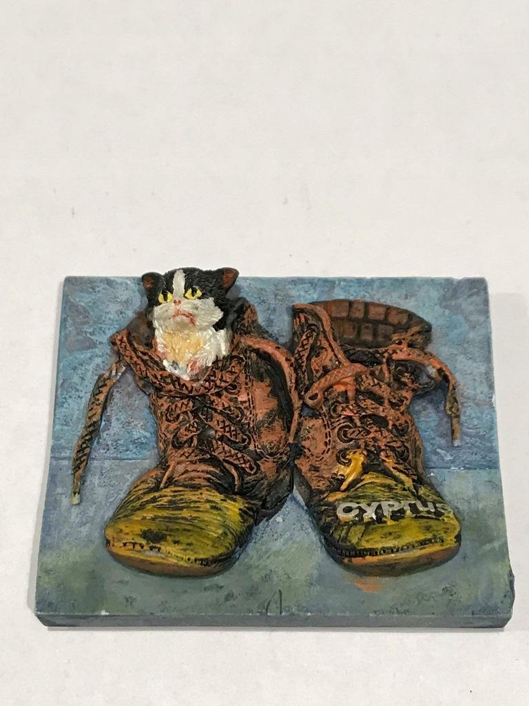Magnes lodówkę magnez Kot w butach Cypr Cyprus cud