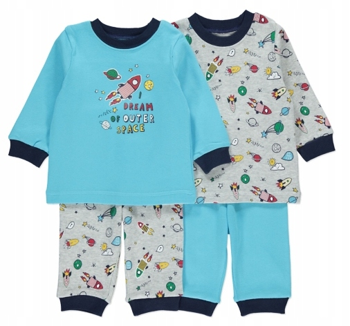 GEORGE komplet 2szt piżamek KOSMOS r.86-92cm