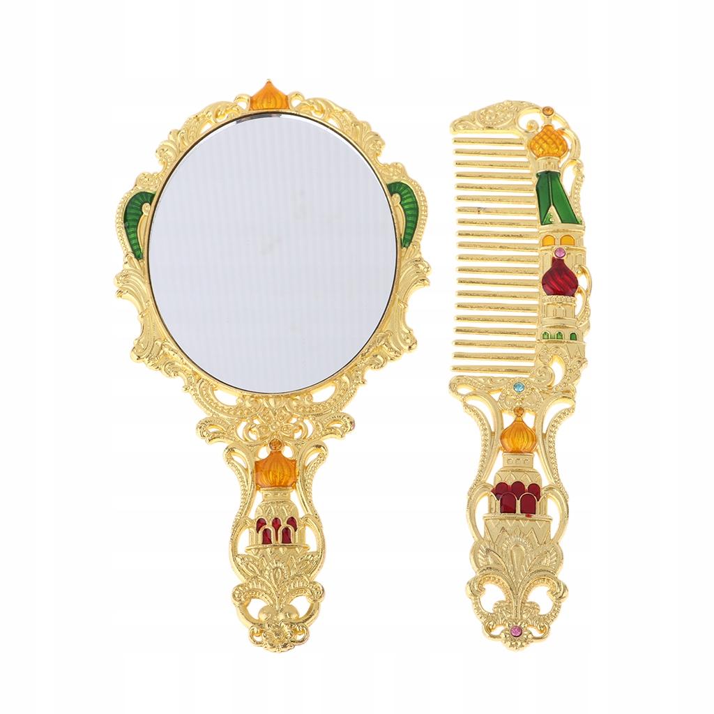 Vintage lustro i zestaw grzebieniowy