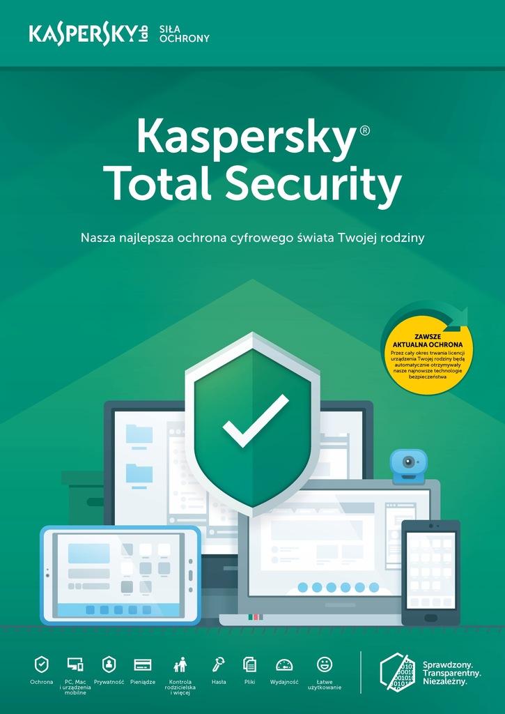 Kaspersky TOTAL Security 2018 2PC/1Rok kontynuacja