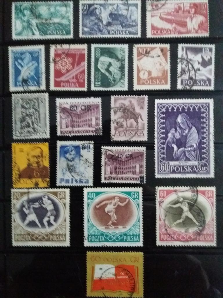 znaczki pocztowe 1956r,