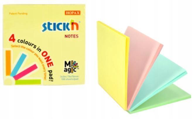 Notes samoprz. Magic Pad Pastel mix 4 kolory