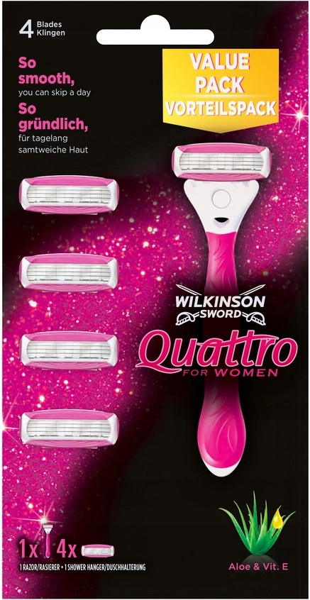 ZESTAW WILKINSON Quattro for WOMEN 5 Wkłady Rączka