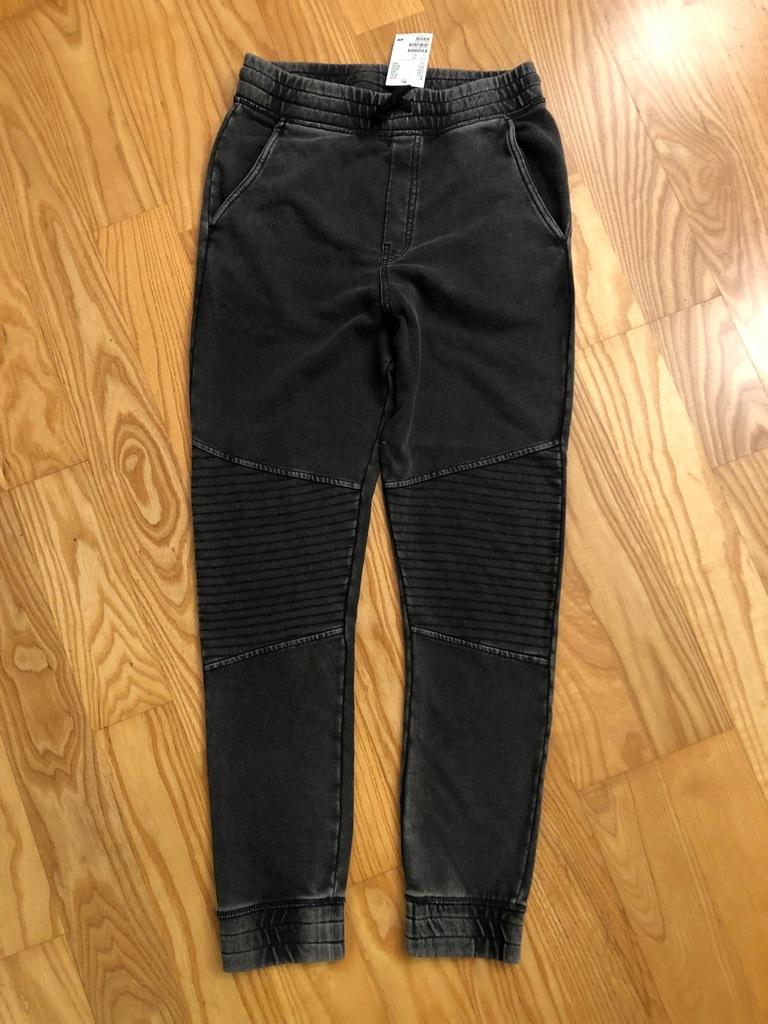 H&M dresowe wąskie joggersy 170cm nowe czarny