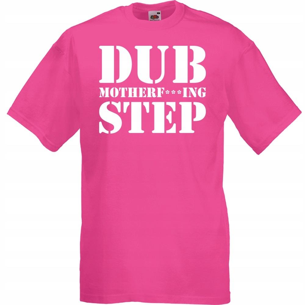 Koszulka z nadrukiem dubstep dub XL fuksja