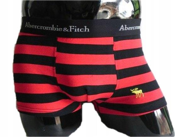 Bokserki Abercrombie & Fitch M Czerwone paski