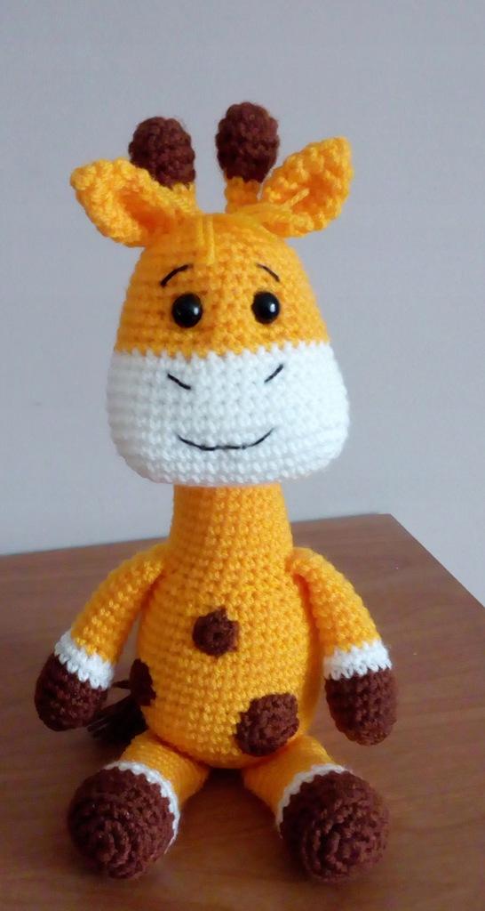 Żyrafa zabawka żyrafka miś maskotka rękodzieło