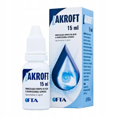 Lakroft, nawilżające krople do oczu 15 ml APTEKA