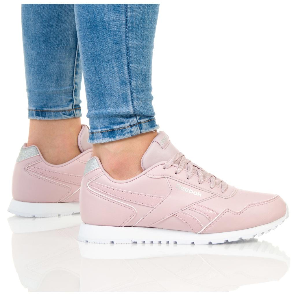 buty reebok granatowe damskie z różowym