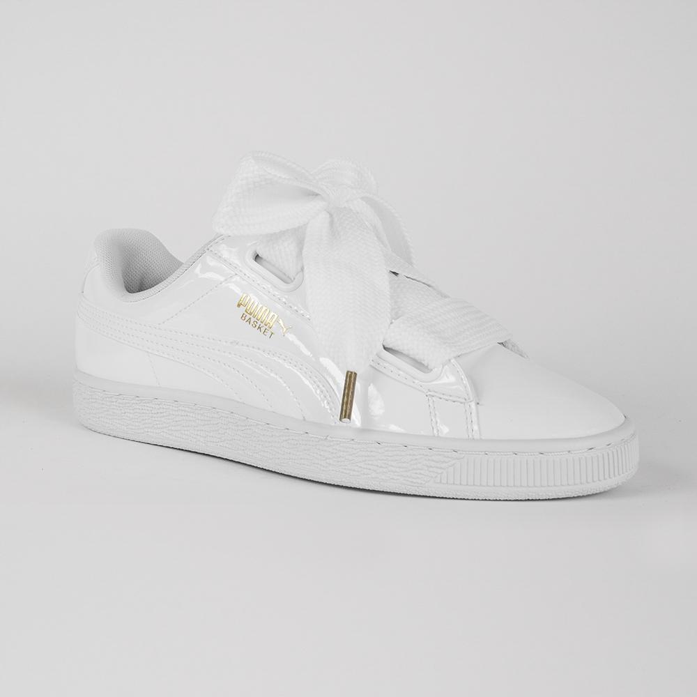 PUMA buty damskie białe lakierowane wstążki 39