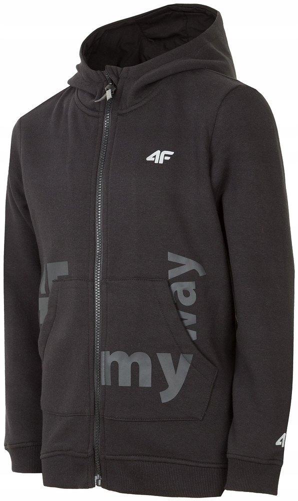 Chłopięca bluza 4F HJZ19 JBLM004 czarna # 128