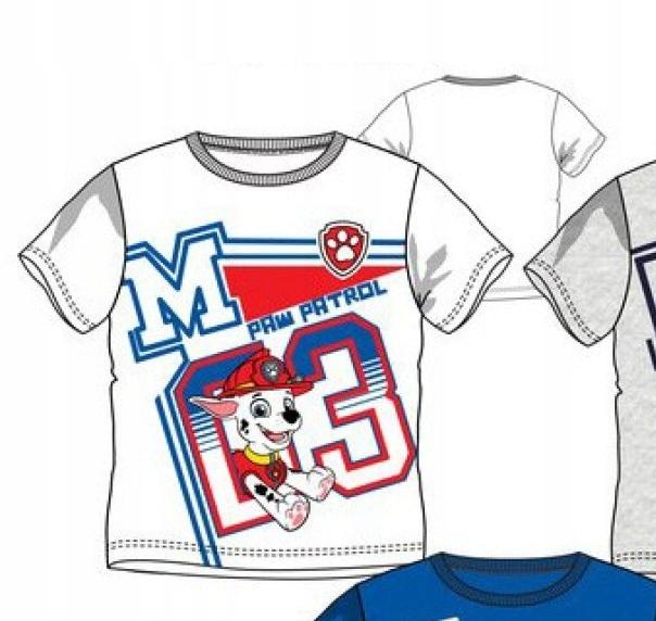 T-shirt chłopięcy Marshall Psi Patrol 116 biały