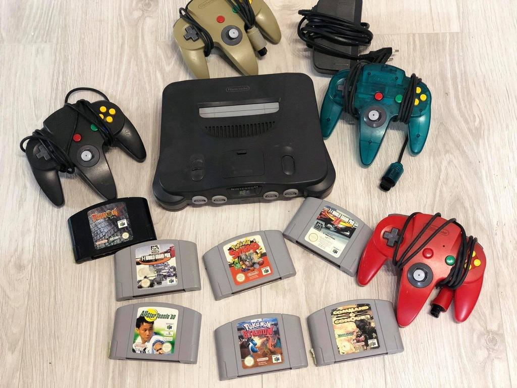 Nintendo 64 Gry Pady Zestaw